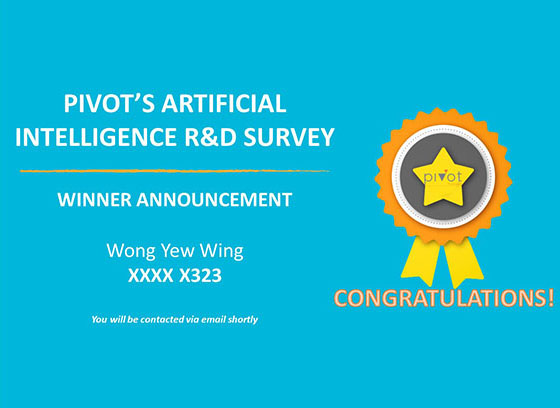 Congratulations to Wong Yew Wing. You have won the S$100 CapitaVoucher in our customer survey lucky draw!